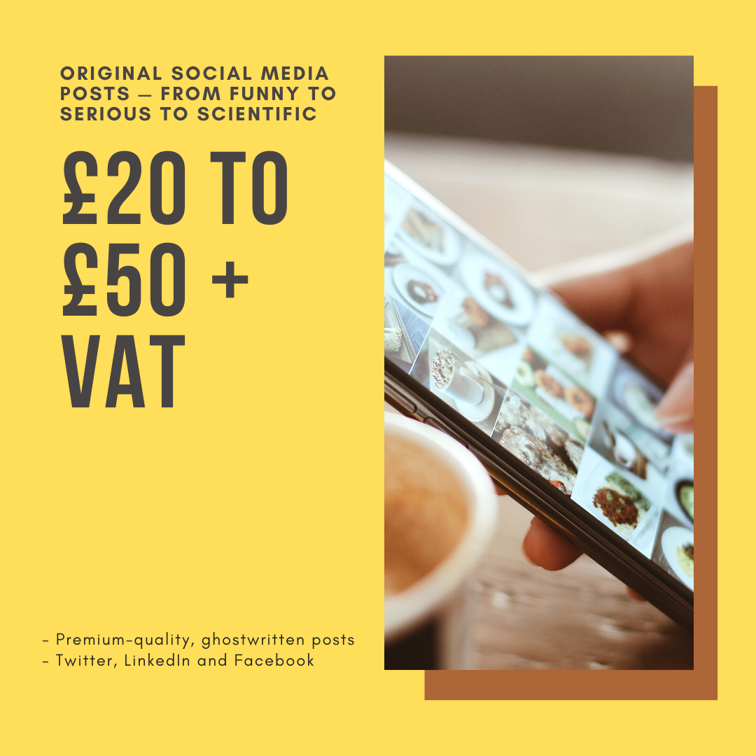 Ghostwritten Social Media Posts Pricing