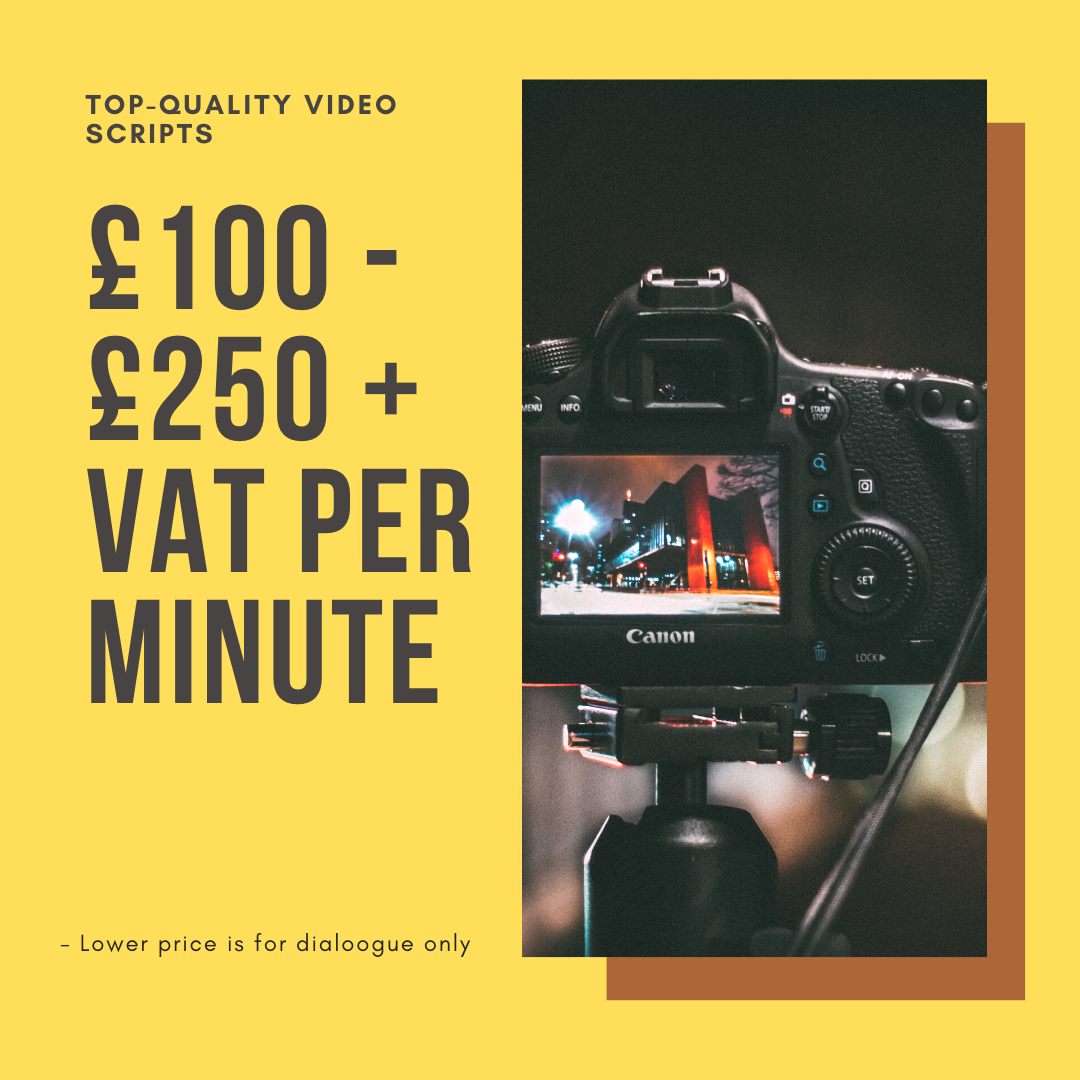 Ghostwritten Video Scripts Pricing