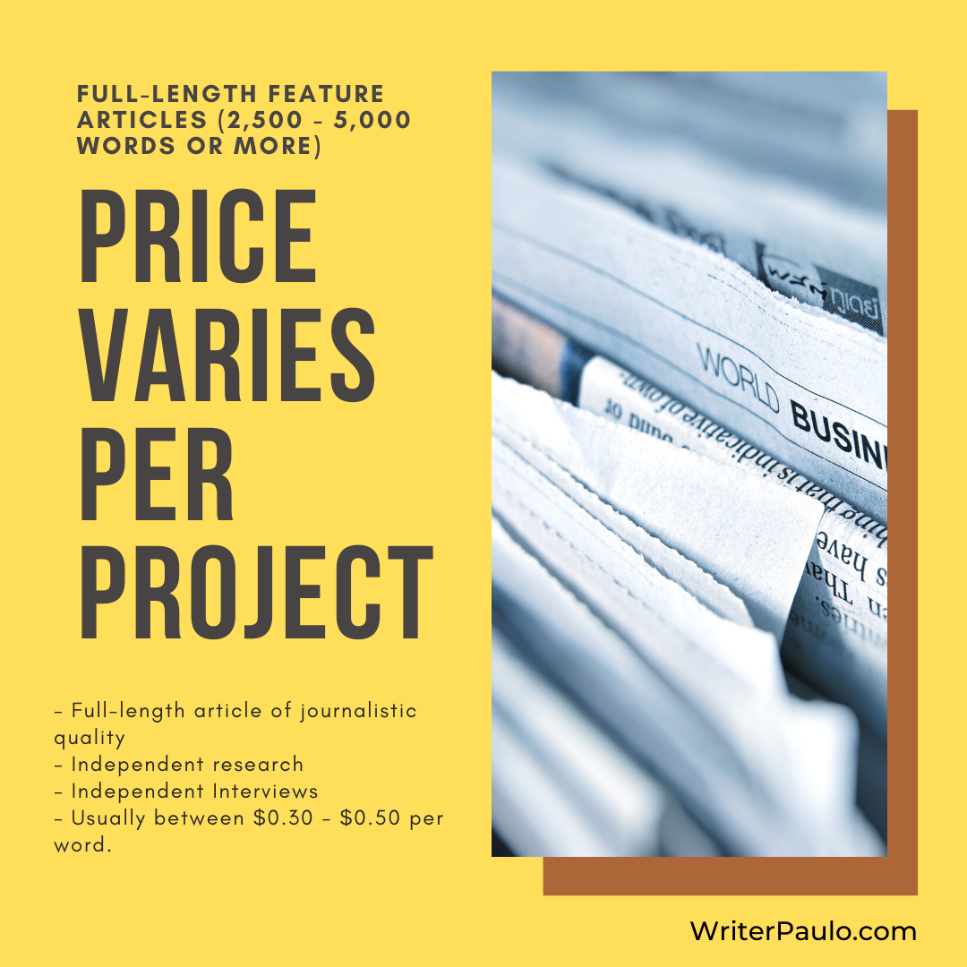 long form blog post or article pricing